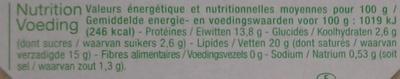 Saint-Marcellin au lait cru - Valori nutrizionali - fr