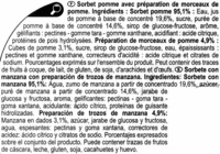 Sorbete de manzana - Ingredients