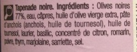 Tapenade noire Recette provencale - Ingredienti - fr