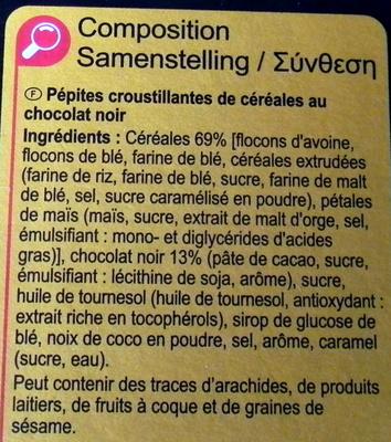 Crunchy chocolate intenso - Ingredientes - fr