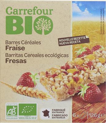 Barres céréalières aux fraises lyophilisées BIO - Product