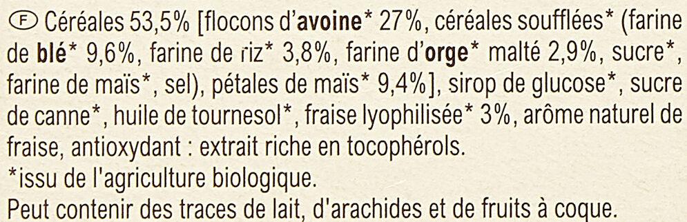 Barres Céréales Fraise - Ingrédients - fr