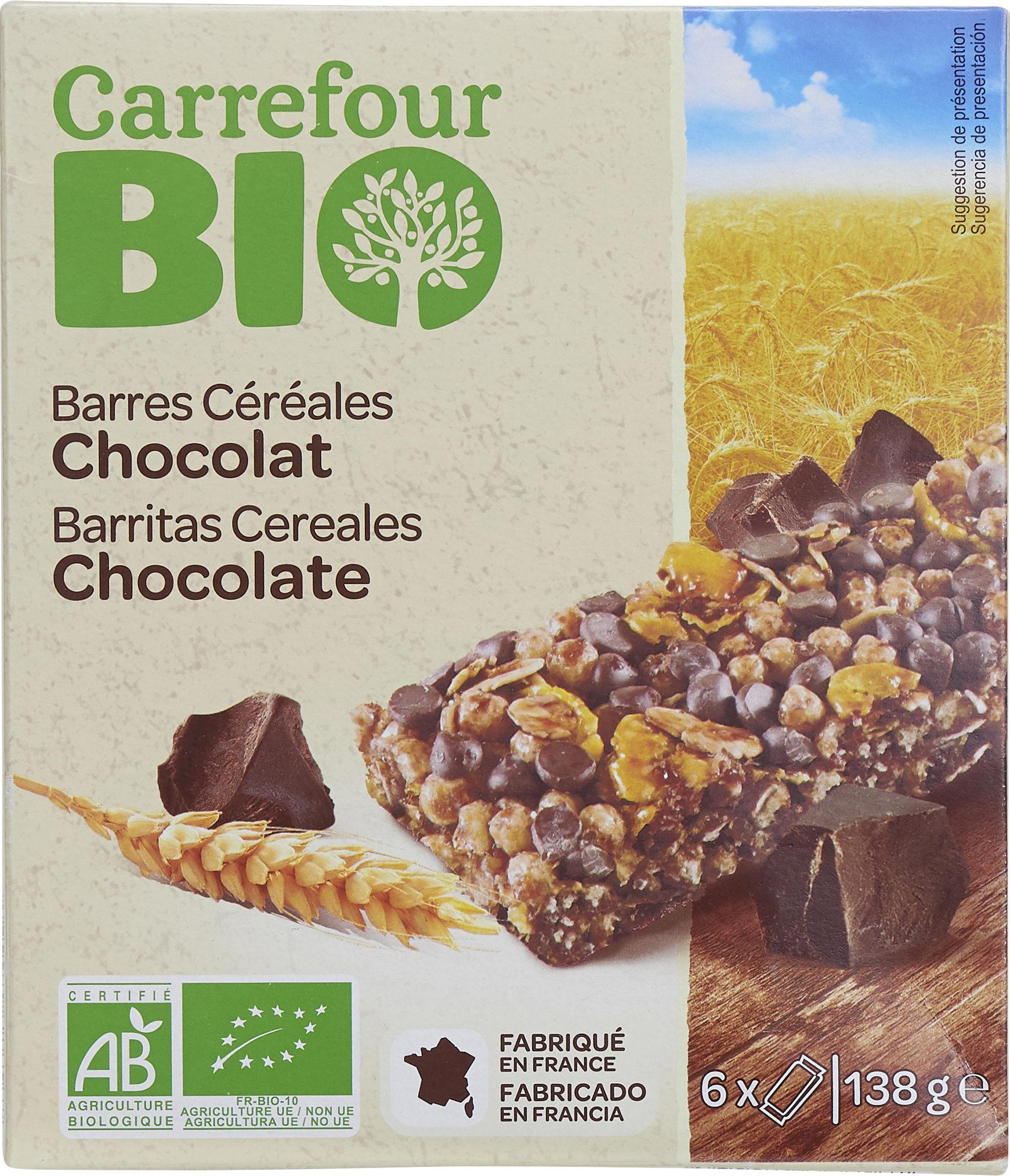 Barres céréales CRF bio chocolat - Producto