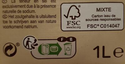 Boisson amande intense - Instruction de recyclage et/ou informations d'emballage - fr