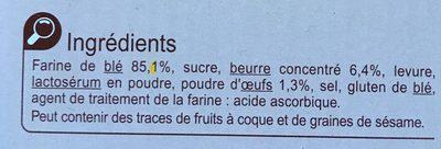 Le brioché - Ingrediënten