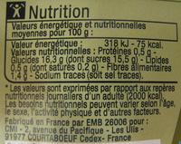 Purée de Mangues et de Pommes Bio Carrefour - Informations nutritionnelles