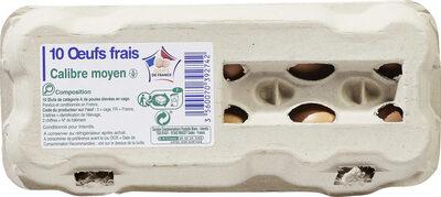 "10 œufs frais calibre moyen ""Œufs de France"" - Product - fr"