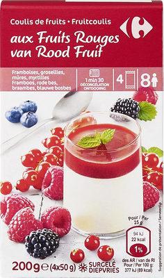Coulis de fruits  aux Fruits Rouges - Product - fr