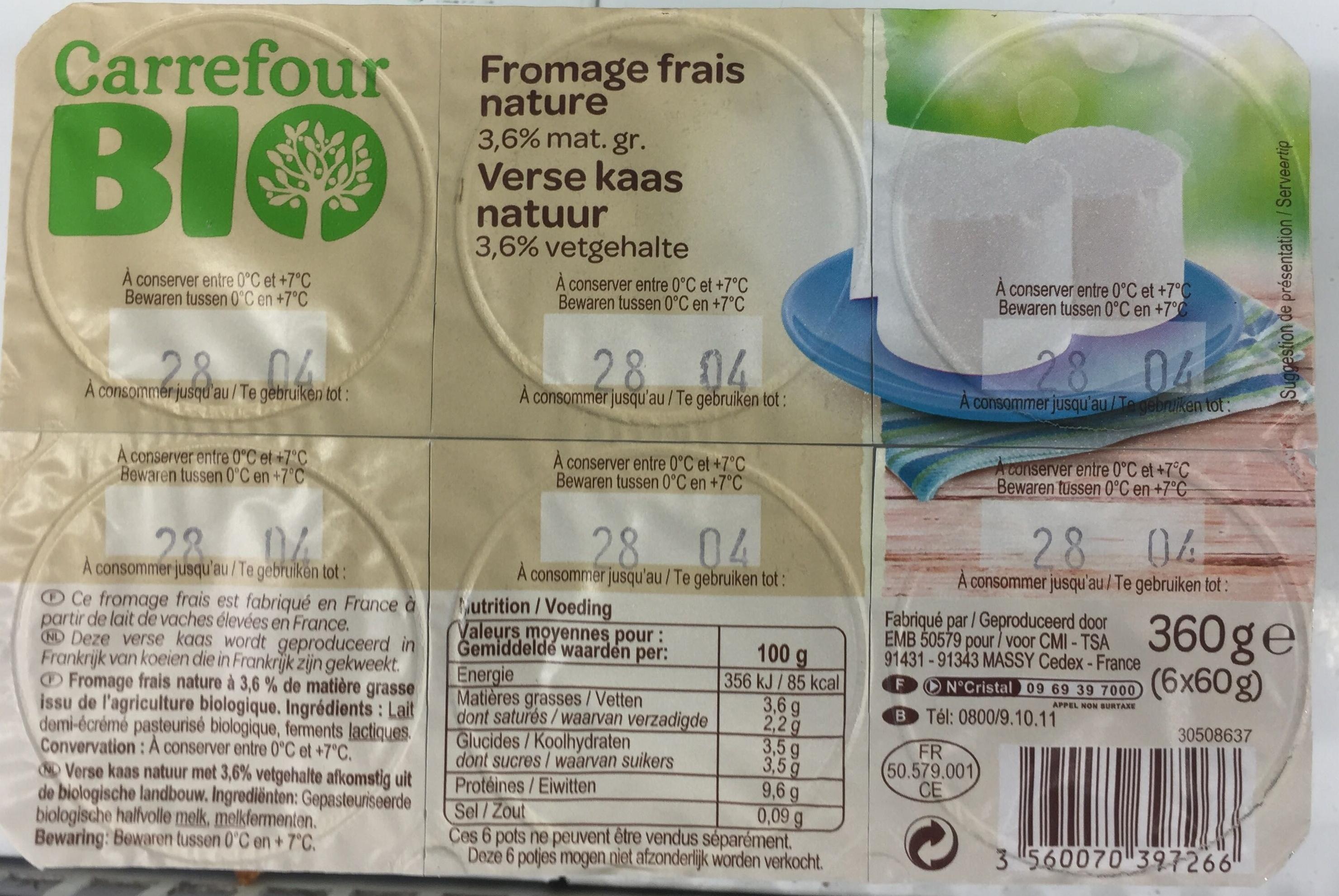 fromage frais carrefour
