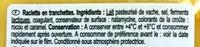 Raclette - Ingredientes - fr