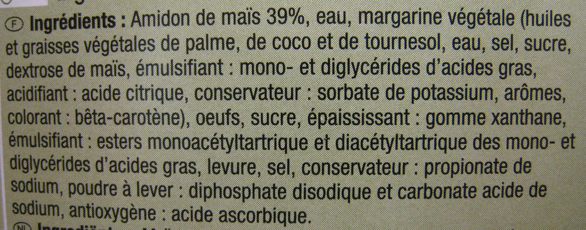Croissant sin gluten - Ingredientes