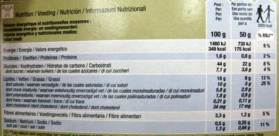 Croissant sin gluten - Información nutricional