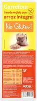 Pan de molde integral de arroz sin gluten - Producto - es