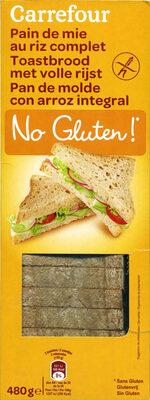 Pan de molde integral de arroz sin gluten - Produit - fr