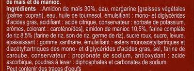 Pan de molde integral de arroz sin gluten - Ingrédients - fr