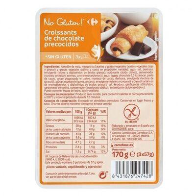 Croissants con chocolate sin gluten - Producto - es