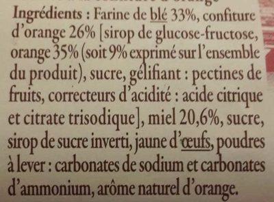 Nonnettes de Dijon Fourrées à la Confiture d'Orange - Ingredienti - fr