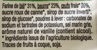 Madeleines Coquilles pur beurre. - Ingrediënten - fr