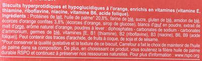 En-cas hyperprotéiné Biscuits à l'orange - Ingrediënten - fr