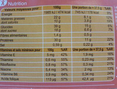 Biscuits hyperprotidiques et hypoglucidiques à l'orange - Nutrition facts - fr