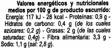 Banderilla picante - Informations nutritionnelles