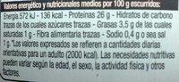 Bonite du Nord au Naturel - Informations nutritionnelles - fr