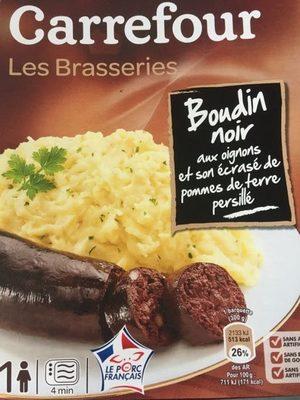 Boudin noir aux oignons et son écrasé de pommes de terre persillé - Produit - fr