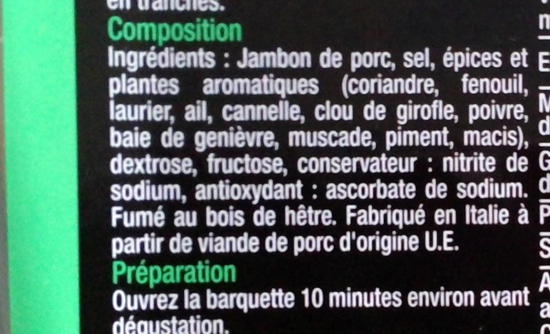 Speck - Ingrediënten - fr
