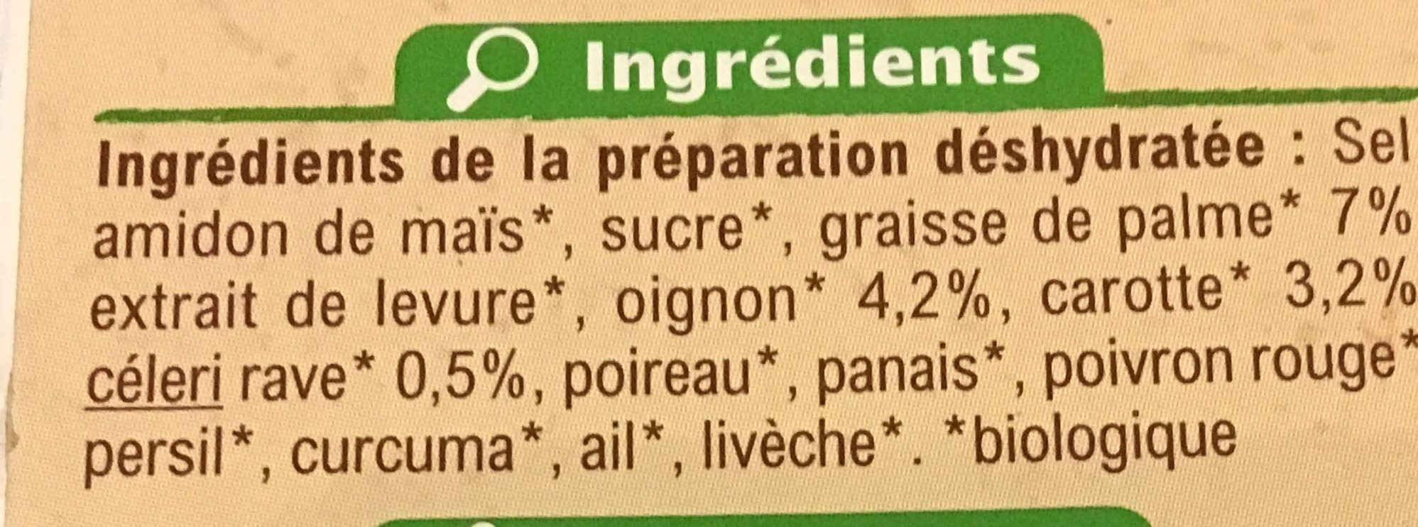 Bouillon de Volaille - Ingredients