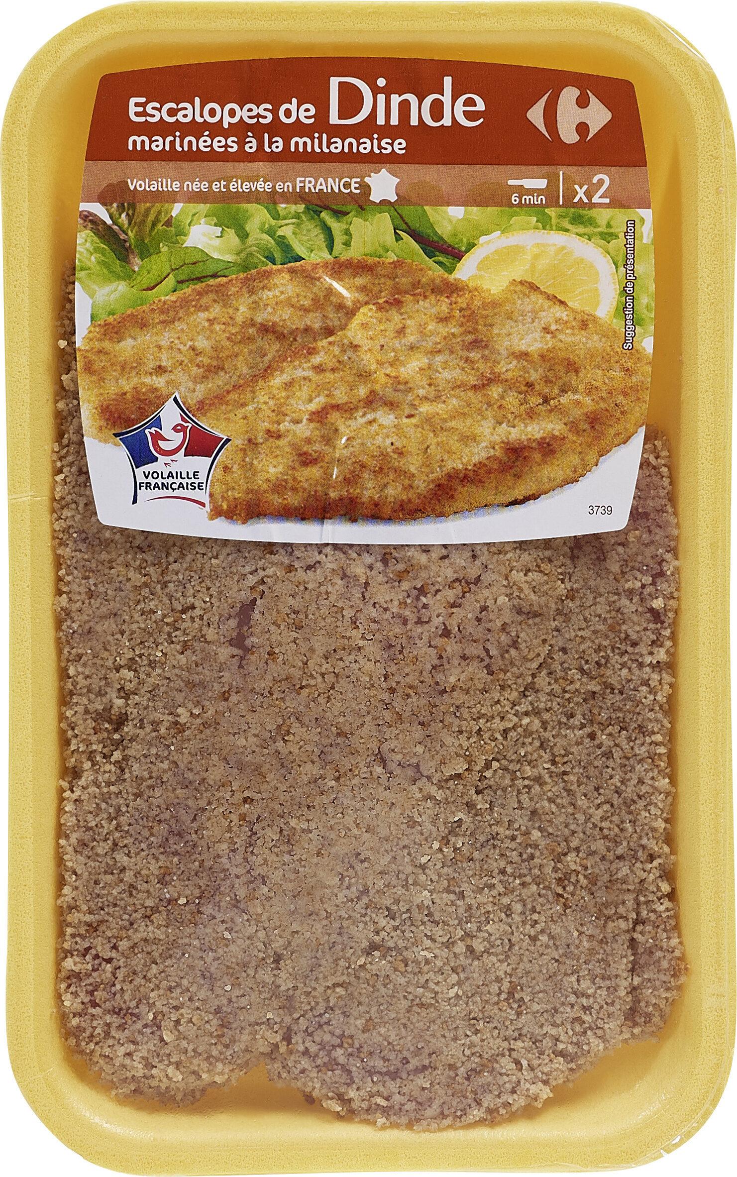 Escalopes de Dinde marinées à la milanaise - Product - fr
