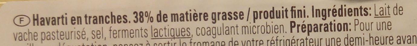 Havarti - Ingrediënten - fr