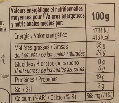Havarti - Voedingswaarden - fr