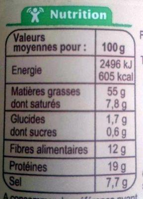 Gomasio de Pascal - Informations nutritionnelles - fr