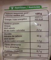 Tortilla chips Classic - Valori nutrizionali - fr