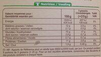 Gressins À l'huile d'olive vierge extra 10g - Informations nutritionnelles - fr