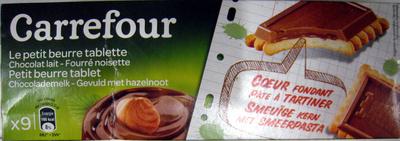 Le petit beurre tablette Chocolat lait - Fourré noisette (x 9) - Produit