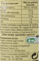 Aceituna gordal con guindilla - Informació nutricional - es