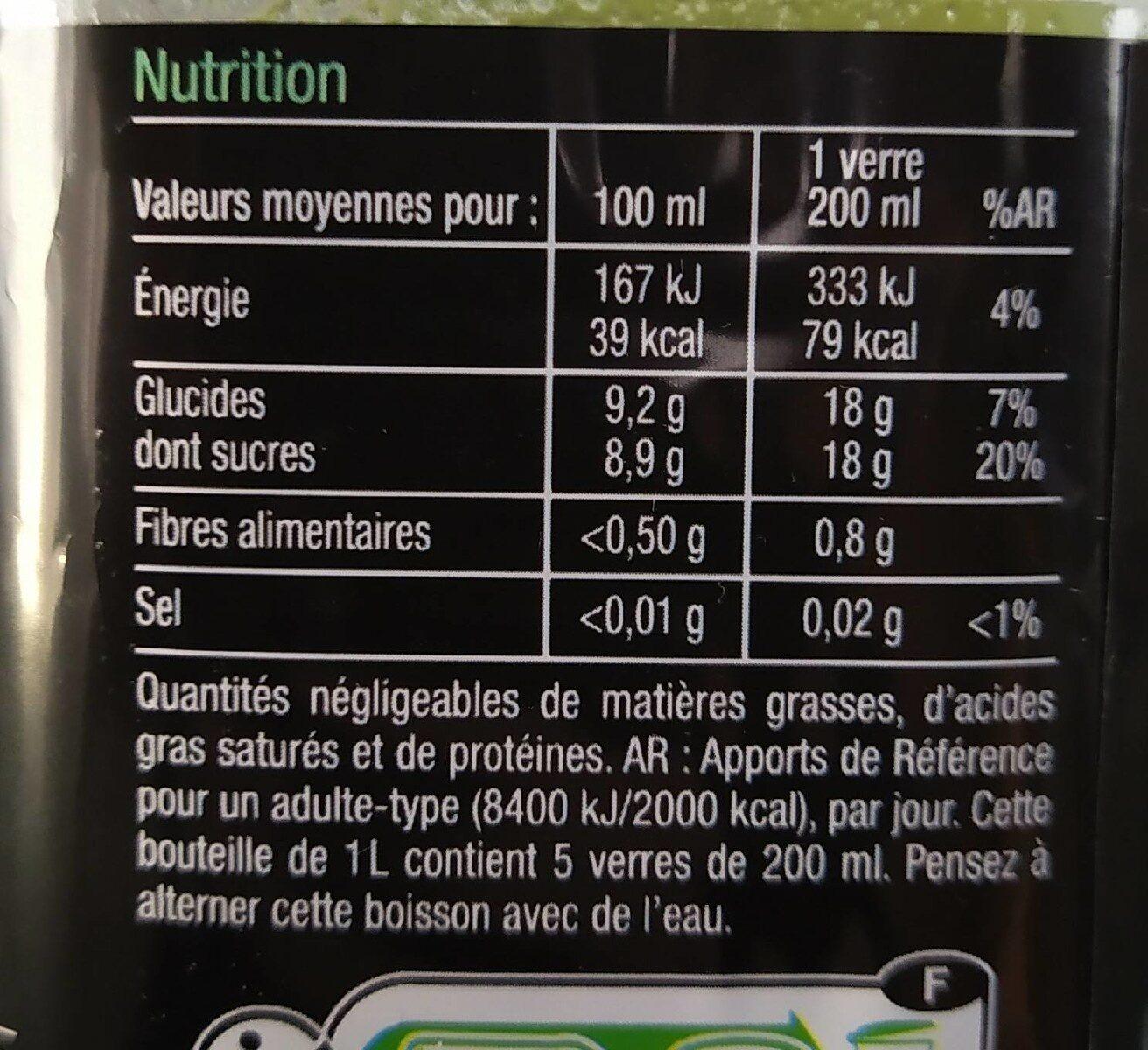 Boisson aux jus de fruits Pomme Kiwi - Valori nutrizionali - fr