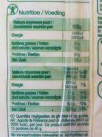 Gouda jeune - Informations nutritionnelles - fr