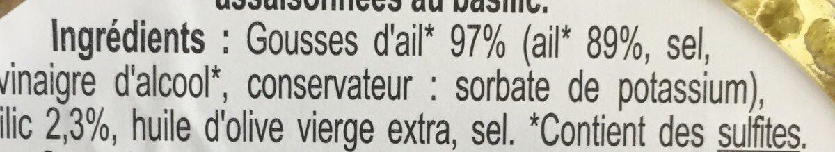 Gousses d'ail - Ingrédients