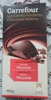 Carrefour Les carrés fondants Chocolat noir Fourrage Mousse - Produit - fr