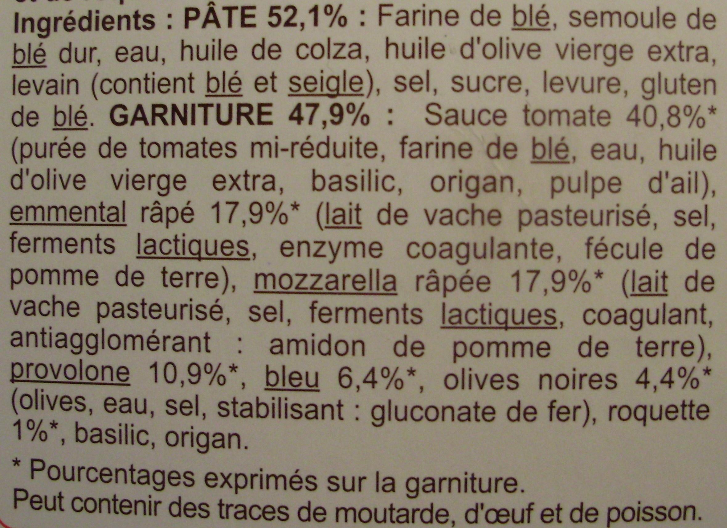 Quattro Formaggi (Mozzarella, Emmental, Provolone, Fromage bleu) - Ingrediënten