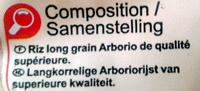Riz Arborio spécial Risotto - Ingrédients - fr