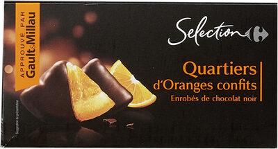 Quartiers D'orange Confits Enrobés De Chocolat Noir, Poids Total 200 Grammes, Marque Carrefour Sélection - Prodotto - fr