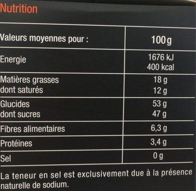 Quartiers D'orange Confits Enrobés De Chocolat Noir, Poids Total 200 Grammes, Marque Carrefour Sélection - Valori nutrizionali - fr