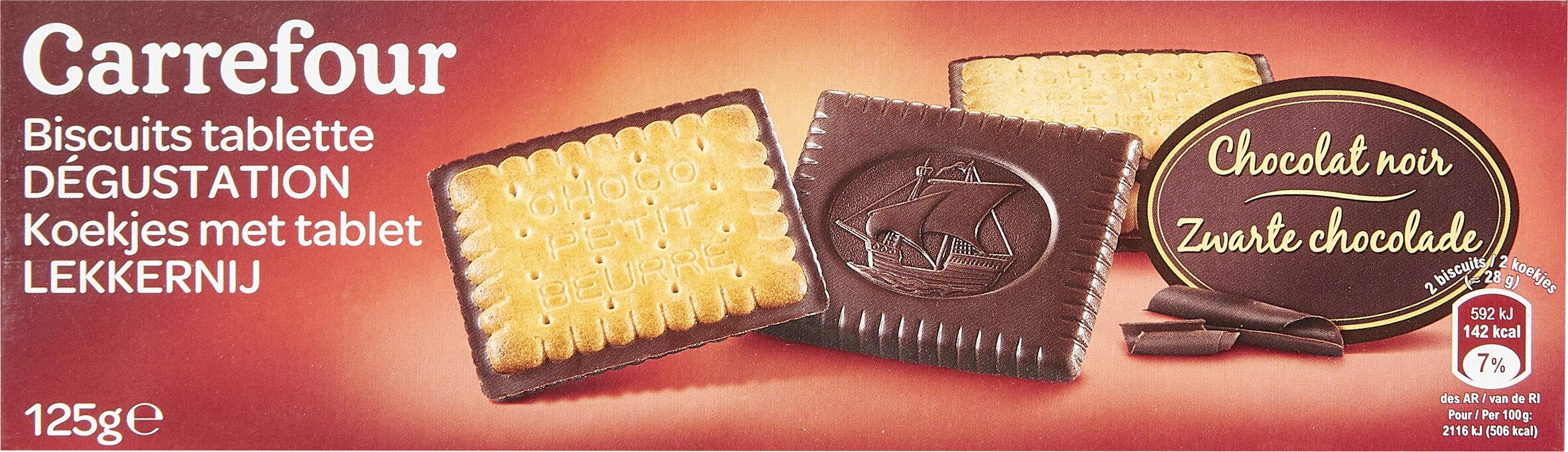 Biscuits tablette chocolat noir - Produit - fr