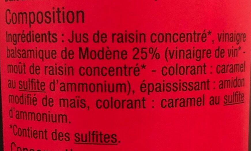 Douceur de vinaigre balsamique de Modène - Ingrédients - fr