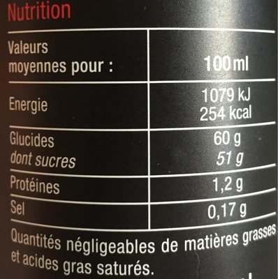 Douceur de vinaigre balsamique de mod ne carrefour s lection avis de consommation - Vinaigre balsamique calorie ...