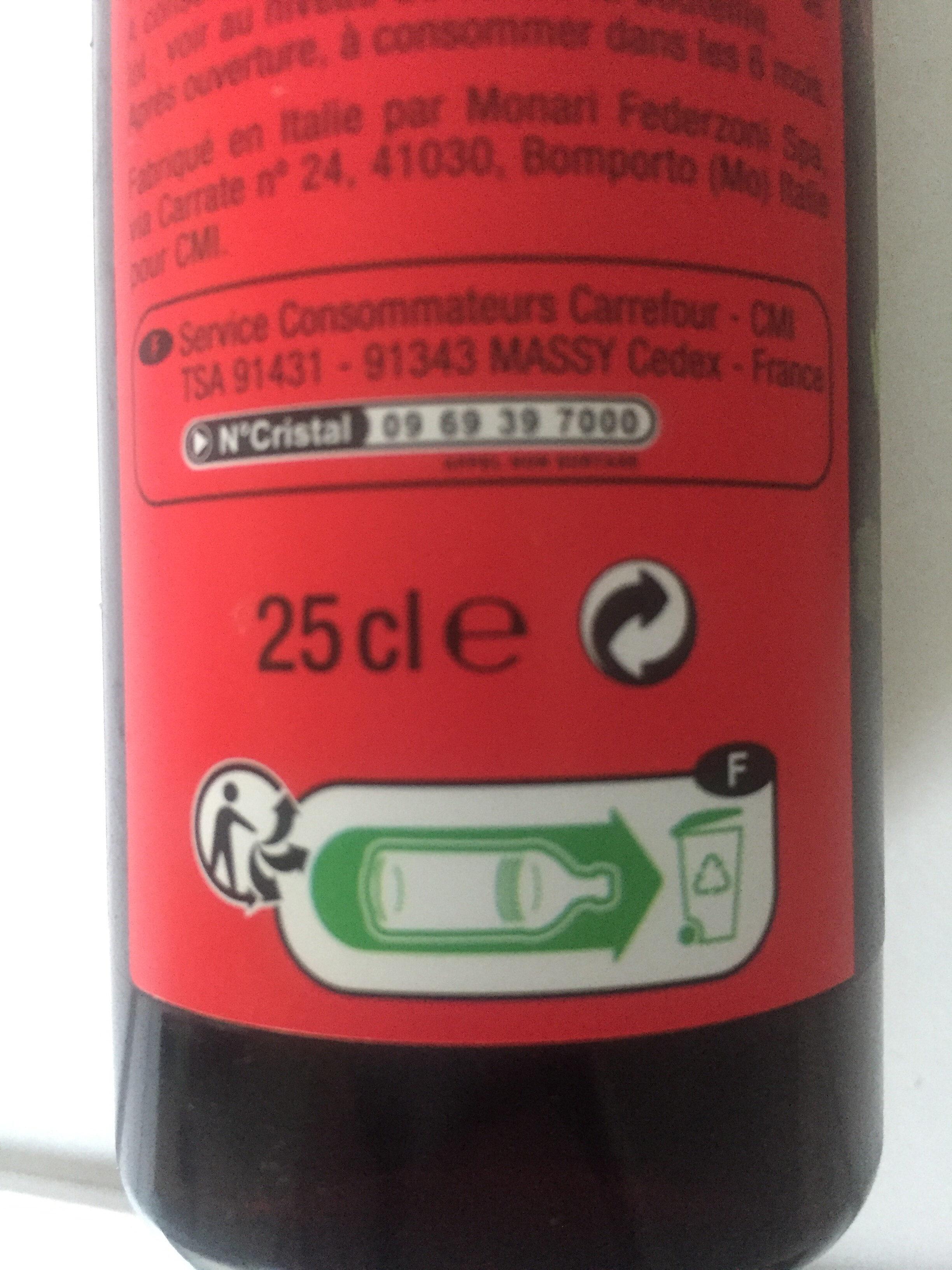 Douceur de vinaigre balsamique de Modène - Instruction de recyclage et/ou information d'emballage - fr