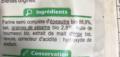 Bretzels A L'épeautre Et Au Sesame - Ingrediënten - fr
